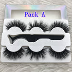 Bulk Mikiwi 3Pairs with tweezers Luxury Dramatic Lashes - Neshaí Fashion & More
