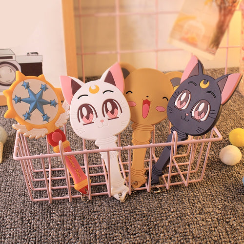 Cute Cardcaptor and Luna Cat  Handle Mirror - Neshaí Fashion & More