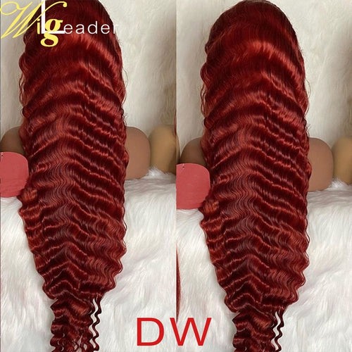 Preplucked Remy  Red 180% 13x6 Lace Frontal Wigs