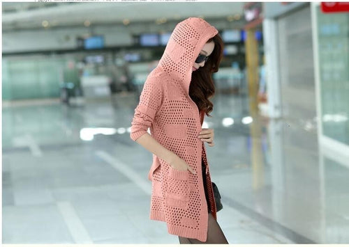 Thin Cardigan Loose Knitted - Neshaí Fashion & More