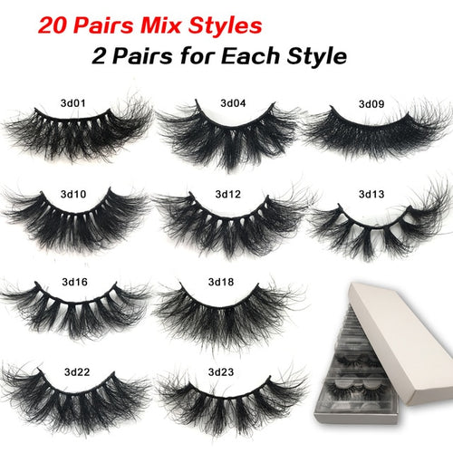20-50 pairs Messy-Fluffy Lashes Wholesale In Bulk
