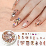 Mixed-size Nail Rhinestones Acrylic - Neshaí Fashion & More