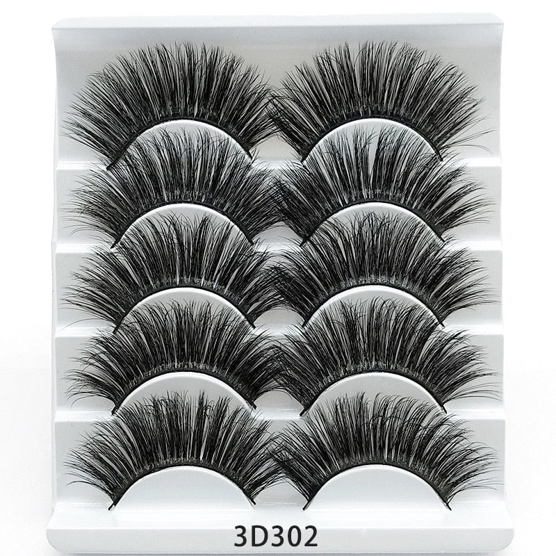 5/7 Pairs Natural Dramatic Wispy lashes