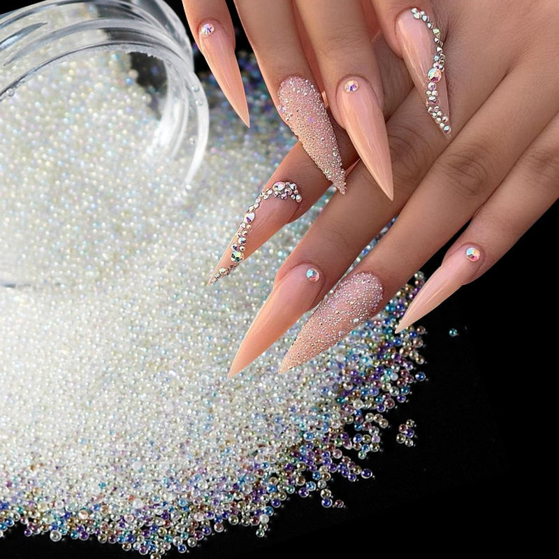 Caviar Nail Beads Crystals - Neshaí Fashion & More