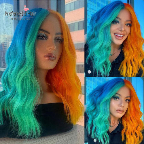 Rainbow Highlight Brazilian Lace Front - Neshaí Fashion & More