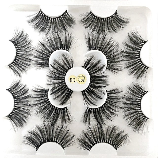 5/7 Pairs Natural Dramatic Wispy lashes - Neshaí Fashion & More