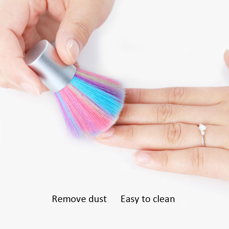 1pc Colorful Nail Art Soft Dust Brush - Neshaí Fashion & More