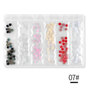 Mixed Color Shape AB Nail Art Rhinestones