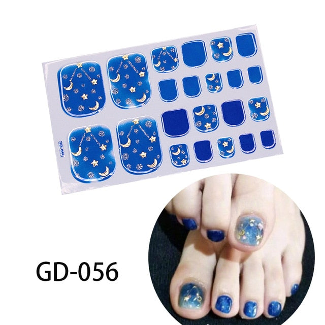 Toenail Stickers Flowers Gel Stickers