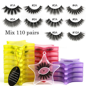 Star Shaped cruelty free Mink Lashes wholesale