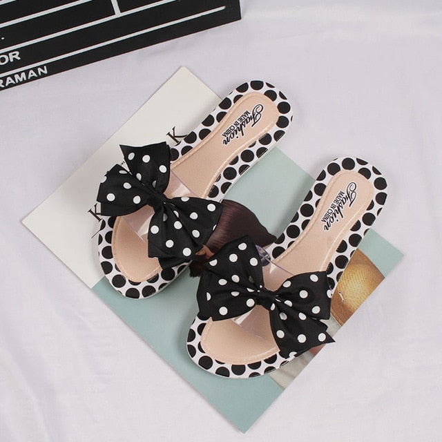 Butterfly-knot Polka Dot slides