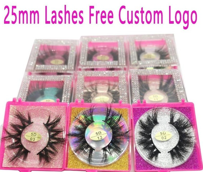 Lashes with Rhinestone box Wholesale- Free Custom Logo