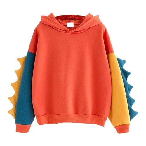 Cute Hoodies Patchwork Pullover Dinosaur Cos Top - Neshaí Fashion & More