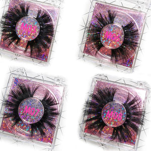 3D Mink Eyelash Bulk 25mm with  square box
