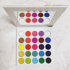 25 Color High Pigmented Matte Rainbow Eyeshadow  Palette Custom Private Label