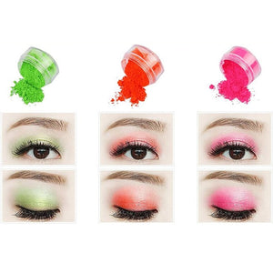 8 Colors Neon Loose Powder Eyeshadow  Private logo