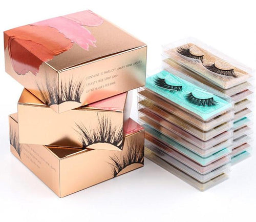 Wholesale Eyelashes faux cils in Packaging Box - Neshaí Fashion & More