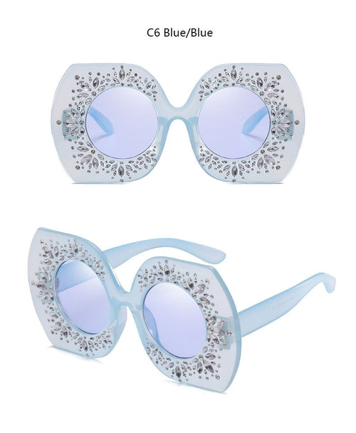 Oversized Designer Dupe Fashion Sun Glasses - Neshaí Fashion & More