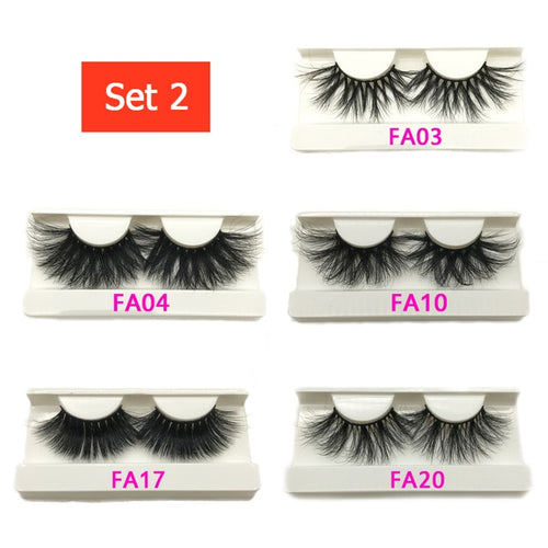 10/20 Pairs  25mm Lashes Wholesale