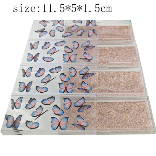 NEW 10/20/50pcs  packaging butterfly print  empty case