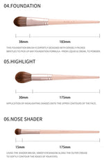 12PCS SWEET PINK MAKEUP BRUSH SET - Neshaí Fashion & More