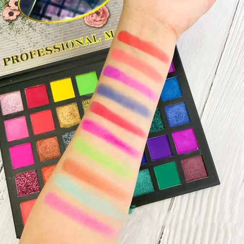 35 Colors Eyeshadow Matte Glitter Eyeshadow Palette - pink love - Neshaí Fashion & More