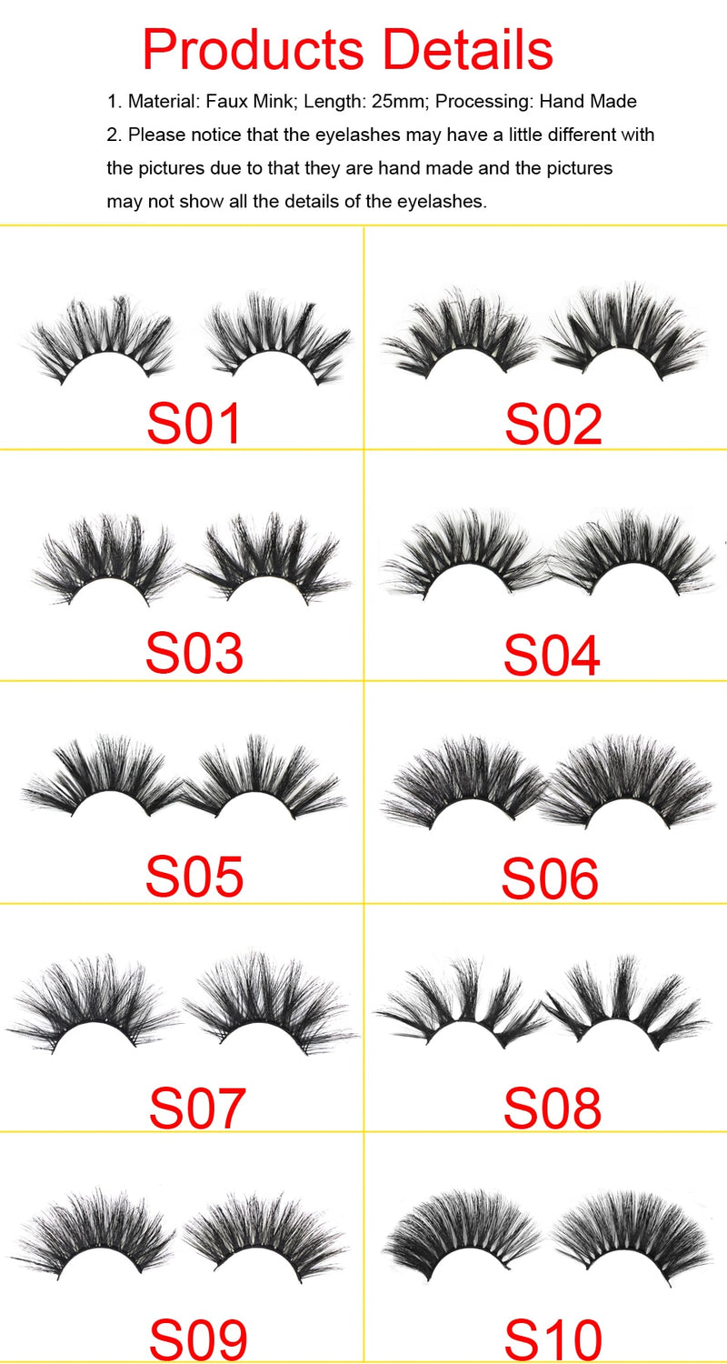 cut through eyelash Packaging with lashes