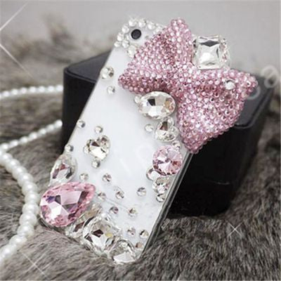 Baby boo phone case Lovely Bling Crystal Diamonds Rhinestone 3D Stones Hard Back Cover for iphone 7/5/5S for Samsung Galaxy S5 6 7 EDGE