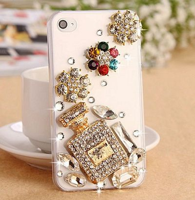 Ritzy phone case Bling Diamond for iPhone 6 7 plus For Samsung Note 5 S6 S7 edge S8 Plus Phone Clear Crystal Cover Crown Flower decora - Neshaí Fashion & More