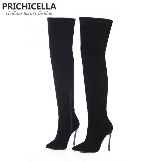 thigh high booties size34-42