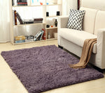 Super Soft Silk Wool Rug Indoor Modern Shag Area Rug smog