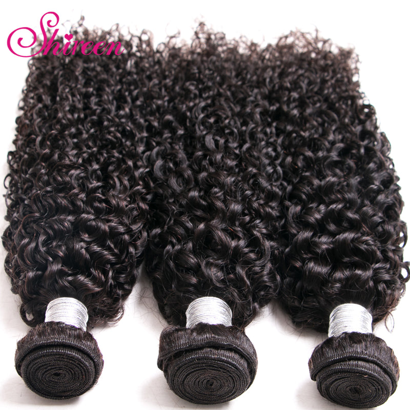 Brazilian Kinky Curly Hair Bundles 100% Remy Brazillian Hair Weave 3 Bundles Natural Color deep Curl Human Hair Extensions