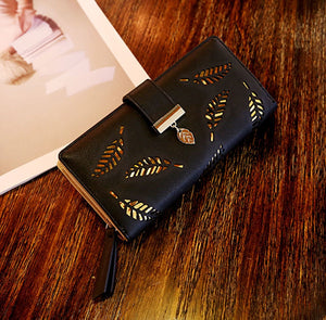 Brand Leaves Hollor Wallets Coin Card Purse