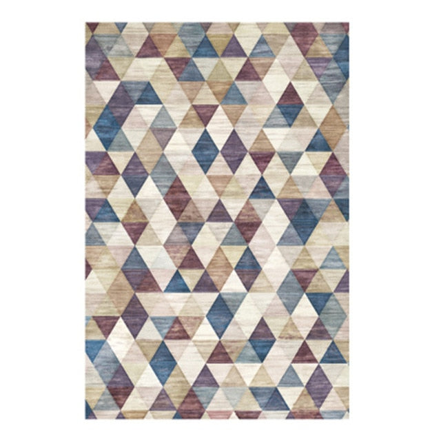 Nordic Style Simple Soft Polyester  Rugs