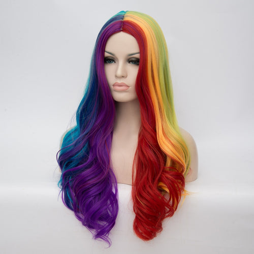 Rainbow 26inch Women Long Middle Part wig - Neshaí Fashion & More
