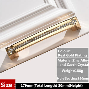 fashion deluxe glass diamond furniture decotation handles  crystal drawer knob