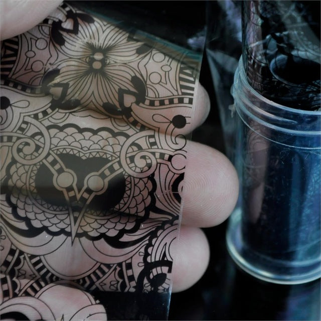 Decal Foil Image Transfer Spirit Wild flower Manicure Decoration Roll in clear jar 1m - Neshaí Fashion & More