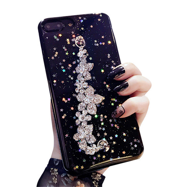 Flower Bracelet Cover for iPhone Xs Max 7 8 Plus 6s 6plus Case Soft TPU Capa Coque