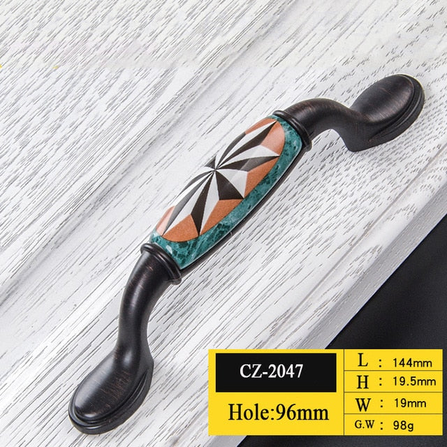 Ceramic European Handle Drawer Pulls