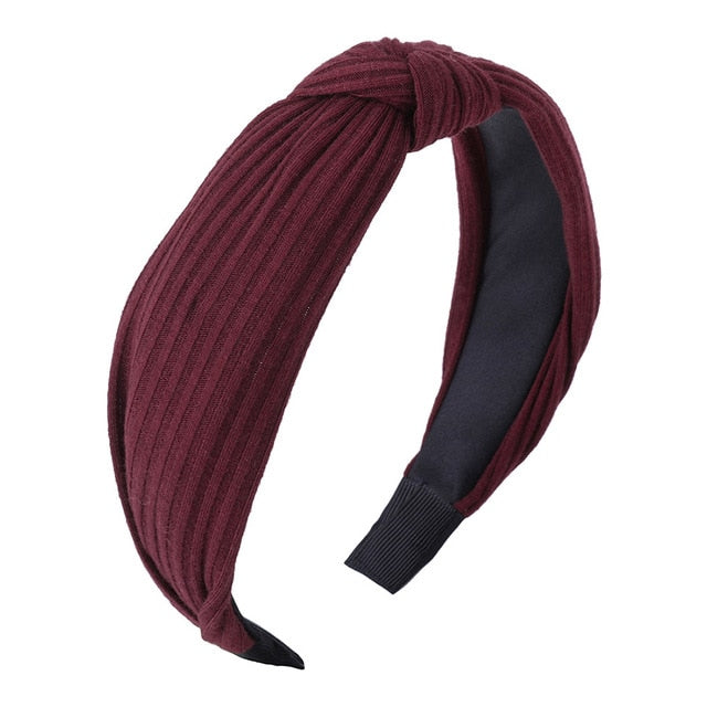 Solid Colors Knotted HeadBand - Neshaí Fashion & More