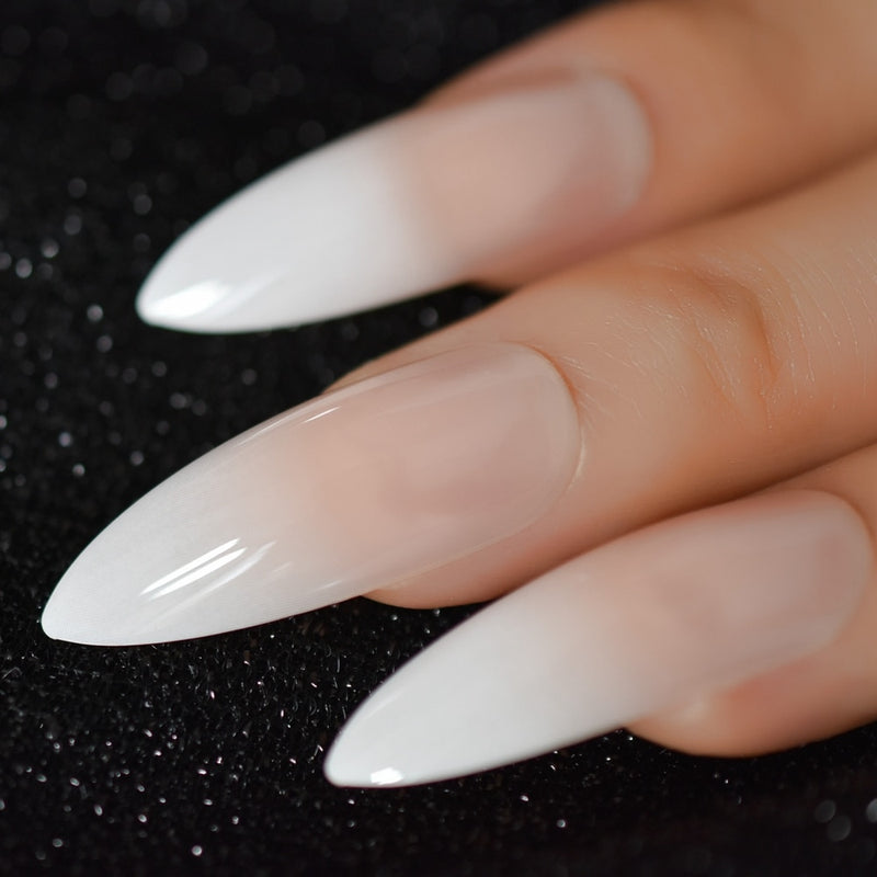 Ombre Extra Long French Nail Extreme Stiletto Sharp Gradient Wholesale Manicure Tips