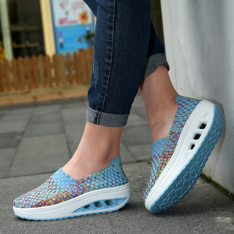 women woven  casual shoes - tenis feminino