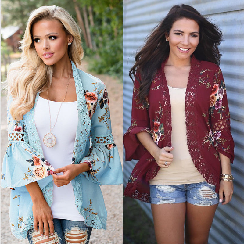 Slim Casual Open Stitch Tops Fashion Women Clothes Spring Shirt Coat Jacket