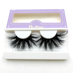 High quality 3D real mink 25mm lashes luxury mink strip custom packaging paper box