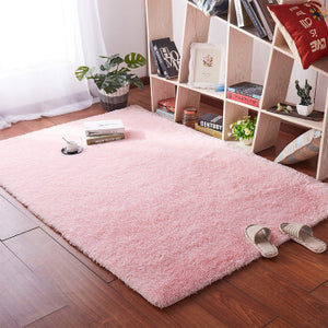 Living room  Thickened washed silk hair non-slip rug