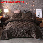 Pinch Pleat Bedding Set  3pcs Bed Linen set  DUVET Comforter