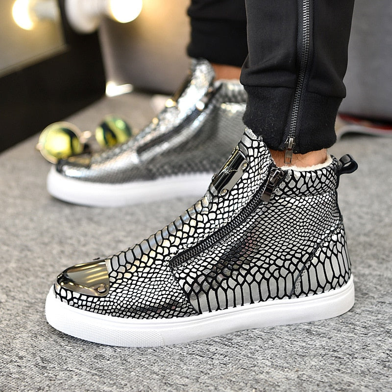Textured fashion sneakers