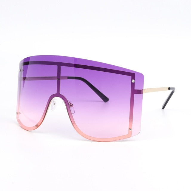 Oversized  Gradient Sunglasses Rimless
