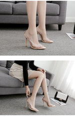 Clear PVC Transparent Pumps Sandals