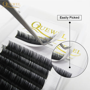 Silk Eye lash Extensions C/CC/D Curl Russian Volume Lashes Quewel